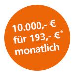 Monatliche Beispielrate Volksbank-Wunschkredit