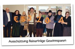 Spendenübergabe VR-Stiftung